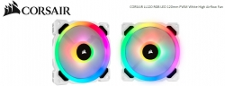 Corsair Light Loop Series White Ll120 Rgb 120Mm Pwm Fan Single Pack Co-9050091-Ww