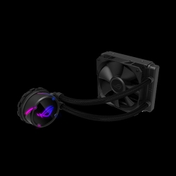 Asus Rog Strix Lc 120 All-In-One Liquid Cpu Cooler. Aura Sync Single Rog 120Mm Radiator Fan Rog Strix Lc 120
