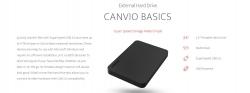 Toshiba 1Tb Canvio Basics Portable Hard Drive Storage. 3 Years Warranty (New Hdtb410Ak3Aa) Hdtb410Ak3Aa