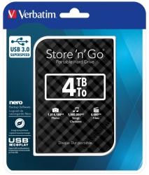 "Verbatim 4Tb 2.5"" Usb 3.0 Black Store""N""Go Hdd Grid Design 53223"