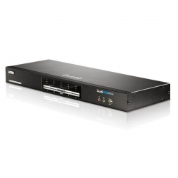 Aten 4 Port Usb Dual-View Dvi Kvmp Switch With Audio And Usb 2.0 Hub - Cables Included Cs1644A-At-U