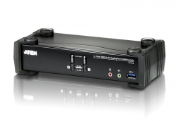 Aten 2 Port Usb 3.0 4K Displayport Kvmp Switch. Support 4096 X 2160 @ 60Hz Cs1922-At-U