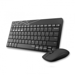 Rapoo 8000M Compact Wireless Multi-Mode Bluetooth 2.4Ghz 3 Device Keyboard And Mouse Combo 8000M