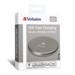 Verbatim Metallic Wireless Charger-Gray 65794