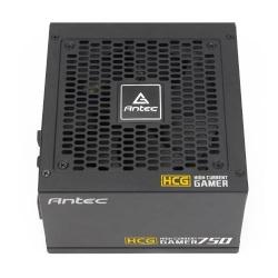 Antec Hcg-750g 750w 80 + Gold Fully Modular Psu 120mm Fdb Fan 100% Japanese Caps Dc To Dc Compact