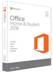 Microsoft Office Mac Home & Student 2016- No Dvd Retail Box Gza-00984