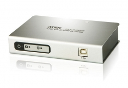 Aten Usb To 2 Port Serial Rs-232 Hub Uc2322-At