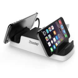 Huntkey Smartu Usb Charging Dock With 4 Usb 2.4a Ports And 2 Micro Usb Connectors Sca607