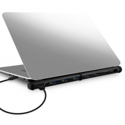 Mbeat M-sleek Docking Station For Notebook And Macbook In Black Aluminium Housing Mb-msdock-b