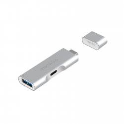 Mbeat Attach © Duo Type-c To Usb 3.1 Adapter With Type-c Port Mb-utc-02