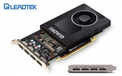 Leadtek Nvidia Quadro P2000 Pcie Workstation Card 5gb Ddr5 4xmdp 1.4 4x5120x2880@60hz 160-bit