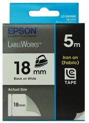 Epson Tape Iron On 18mm Black/ White 5 Mete For Lw-400 C53s626103