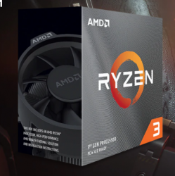 AMD Ryzen™ 3 3300X Desktop Processor, Socket AM4, Quad Core 8 Threads, up to 4.30GHz, 18MB Cache, 65W, CPU With Cooler (Ryzen 3 3300X)