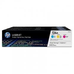 Hp 126a Cym Combo Pack Laserjet Toner Cartridge-cf341a Cf341a