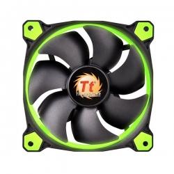 Thermaltake 140mm Case Fan: Riing 14 Green Led 1400rpm Fan Cl-f039-pl14gr-a*
