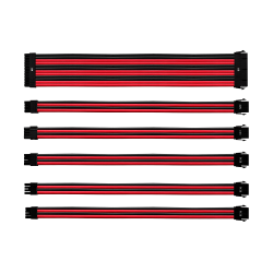 COOLER MASTER RED/BLACK SLEEVED EXTENSION CABLE KIT (Cma-Nest16Rdbk1-Gl)