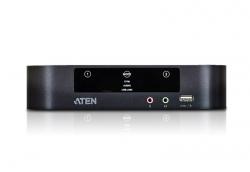 Aten 2 Port Usb 3.0 4K Dual Displayport Kvmp Switch Support Up To 4K Dci (4096 X 2160 @ 60 Hz)