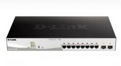 D-Link Dgs-1210-10Mp 10-Port Gigabit Websmart Poe Switch With 8 Poe Rj45 And 2 Sfp Ports. Poe