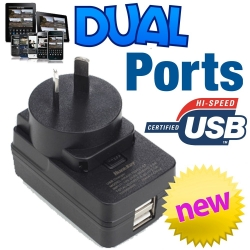Huntkey D202 Ac To Usb Dual Charger Power Mate 2-Ports 5V 2.1A Wall Charger Elehund202