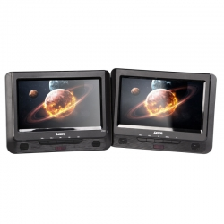 "Laser Dvd Player Dual 9"" In Car With Bonus Pack (headrest Mounts And Earphones) Dvd-pt9-dualc"
