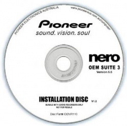 Pioneer Software Nero Suite 3 Oem - Version 6. Designed Xp Iddvr110