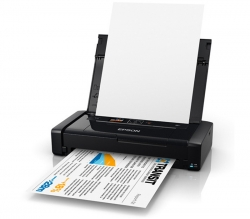 Epson WorkForce WF-100 4 Colour Inkjet Wireless Mobile Printer, Rechargeable Battery, 7PPM A4, LCD