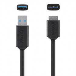 Belkin Micro Usb To Usb 3.0 Cable F3u166bt03-blk