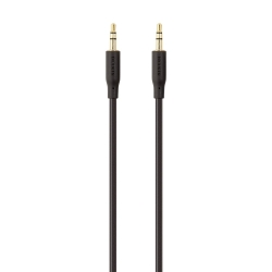 BELKIN ESSENTIAL STEREO 3.5MM-AUDIO CABLE, 2M - BLACK  F3Y117BT2M