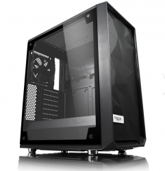 "Fractal Design Mid Tower Case : Meshify C Blackout Tempered Glass 2x 3.5"" 3x 2.5"" 2x Gp-12 120mm"
