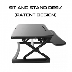 Powercase Sit And Stand Desk (patent Design) Rrp: $599.00 Furbl890