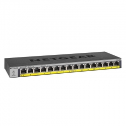 Netgear 16-port Poe/poe+ Gigabit Ethernet Unmanaged Switch With 183w Poe Budget Rack-mount Or Wall-mount