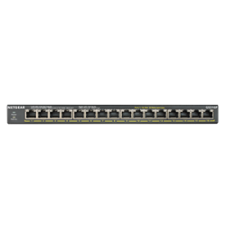 Netgear Soho 16-Port Poe+ Gigabit Unmanaged Switch (115W Poe Budget) Gs316P-100Ajs