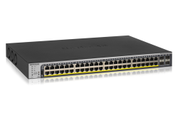 Netgear 48-Port 760W Gigabit Poe+ Ethernet Smart Managed Pro Switch With 4 Sfp Ports (Gs752Tpp)