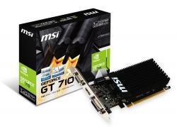 MSI GT710 1G HDMI LP VGA CARD PCIE2, DVI/ HDMI/ VGA, GDDR3 GT 710 1GD3H LP