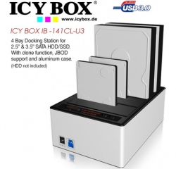 Icy Box (ib -141cl-u3) 4 Bay Docking Station For 2.5 Inch & 3.5 Inch Sata Hdd/ Ssd. With Clone Function