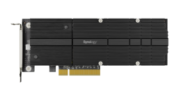 Synology M2D20 PCIe Adapter card supporting Synology SNV3400 and SNV3500 only.