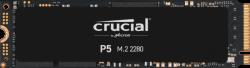 Crucial P5 500GB 3D NAND NVMe PCIe M.2 SSD, 3400R/3000W(seq)MB/s,300TB TBW, 2M Hrs MTTF,[CT500P5SSD8] 5yr wty