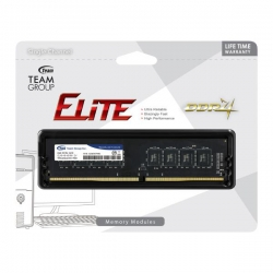 Team Group Ddr4 2400mhz Pc4-19200 8gb (8gbx1) Dimm 16-16-16-39 1.2v Elite Ted48g2400c1601