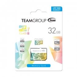 Team Colour Card Ii Micro Sdhc Uhs-1 U3 32g 90/45 R/w Tciiusdh32gu350
