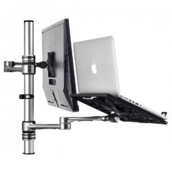 Atdec Notebook Monitor Arm Combo Mount - Silver Af-At-Nbc-Pc