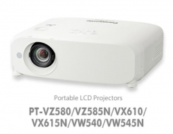 Panasonic Vz580 - Install, 3lcd, 5000 Lumens, Wuxga, 2x Hdmi / 2x Vga / Video In, Lan Control,
