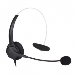 Shintaro Hands Free Phone Mono Headset - Designed For Ip Phone And Phones With A 2.5 Mm Jack Sh-132