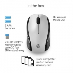 Hp 201 Pk Silver Wireless Mouse 3Dh83Aa