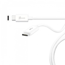 J5Create Jucx03 Usb 3.1 Usb-C To Usb-C Cable 90 Cm (Speeds Up To 10 Gbps With An Output Of 20V (100W) And 5A) Jucx03