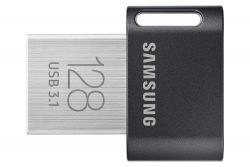 Samsung 128gb Fit Plus Usb Drive Gunmetal Gray Usb3.1 Up To 300mb/s 5 Years Warranty Muf-128ab/apc