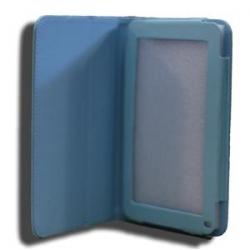 Leader Tab7 Folio Case Blue Faux Leather. Camera Hole Rear Nalt7-cblue