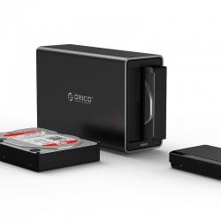Orico Black Ns200-u3 2 Bay Usb3 External Hard Drive Enclosure Orc-ns200u3-bk