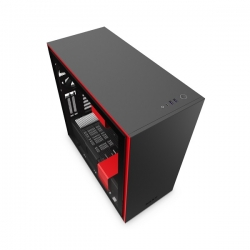 NZXT Matte Black & Red H710I Mid Tower Chassis Nzt-Ca-H710I-Br