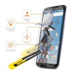 I-tech Premium Tempered Glass Screen Protector For Google Nexus 6 With 2.5d Curved Edge
