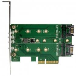 Startech 3-port M.2 Ssd (ngff) Adapter Card - 1 X Pcie (nvme) M.2 2 X Sata Iii M.2 - Pcie 3.0 - Pci Express 3.0 M.2 Ngff Card - Ssd Host Card Pexm2sat32n1